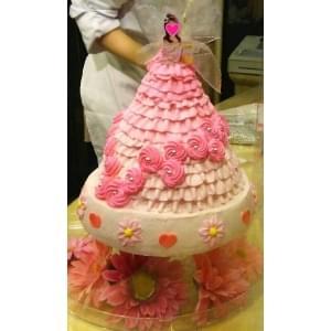 女性ドールケーキ+デコレーションケーキ