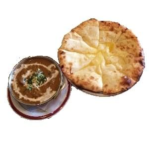 シーフードカレー チーズナンセット