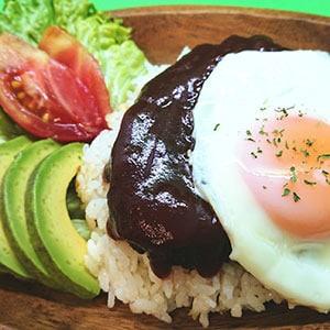 特製ハワイアンロコモコ(温玉のせ)/loco moco plate with soft boild eggs
