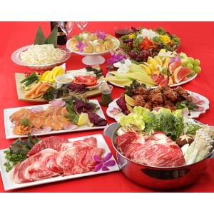 鍋【すき焼き鍋】8品8皿すき焼き鍋コース