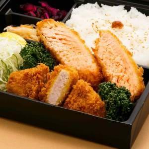 秋鮭フライ&エビフライ御膳