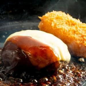 チーズハンバーグ&蟹クリームコロッケ弁当