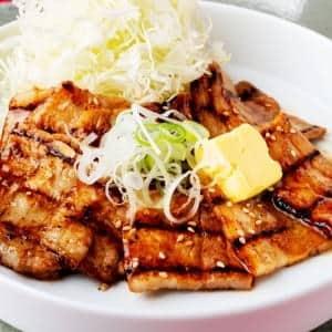 豚バラの味噌バター定食