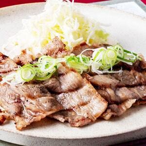 牛カルビねぎ塩焼肉定食