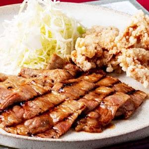 牛カルビ焼肉とから揚げ定食