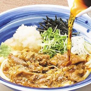 【F08】冷し肉すきうどん