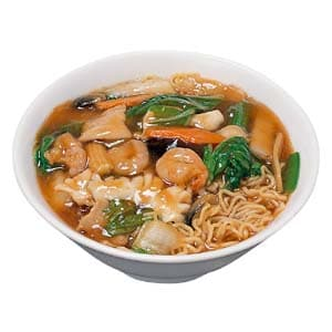 144 五目あんかけソバ(醤油スープ) 五目拉麺