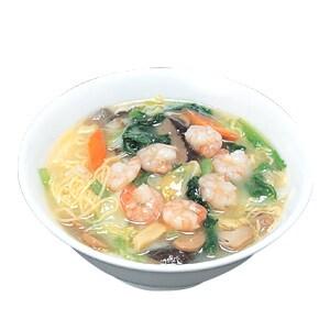 177 たっぷり海老の温かソバ(海鮮塩スープ) 蝦麺 塩口