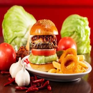 zakzak rayu burger samurai ザクザクラー油バーガー侍
