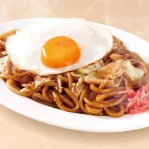 なにわ太麺 豚ソース焼きそば(麺大盛)【目玉焼き付】