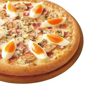 ピザ・カリフォルニア 半熟たまごのカルボナーラピザ