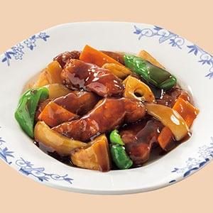 バーミヤン バルサミコ酢の黒酢豚