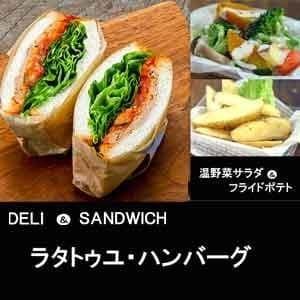 【1102a】ラタトゥユハンバーグ&温野菜サラダ