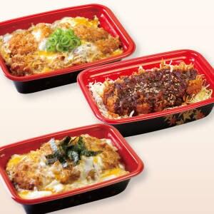 【丼セット】ロースかつ丼1個+親子ささみかつ丼1個+味噌ロースかつ丼1個