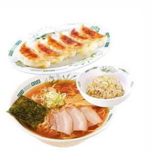 中華そば+半チャーハン+餃子6個