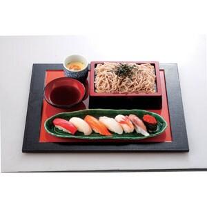寿司そばセット(ごまそば)冷たいそば