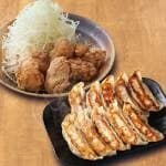 餃子 and 唐揚げ 満足コンビ Gyoza(10pieces) and Fried chiken(10pieces)Sets