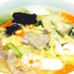 五目海鮮とろみ麺/Thickening noodles with assorted seafood