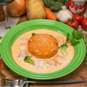 ロブスタースープのチーズ焼リゾット(Lobstersoup risotto)
