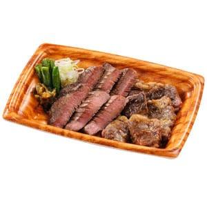 【035】中落ちカルビ&牛たん皿 並盛