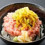 とろたく丼(1人前) Raw Tuna & Pickled Radish Bowl(1serving)