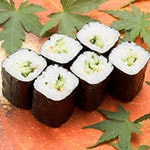 かっぱ巻き(1本) Cucumber Rolled Sushi(1roll)