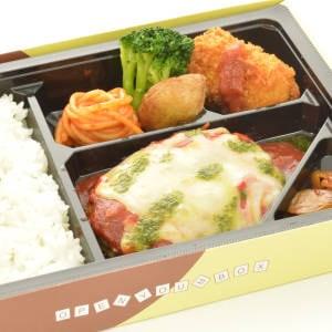 トマトとチーズのイタリア風ハンバーグ弁当~カニコロ付きでお得!~