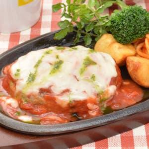 トマトとチーズのイタリア風ハンバーグ~おもてなしにも喜ばれます~ Mサイズ