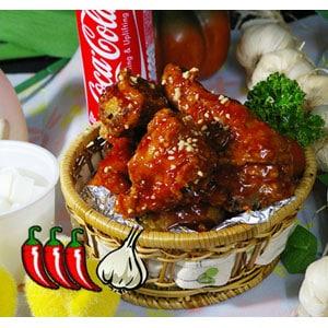 甘いピリ辛チキン(ヤンニョムチキン)