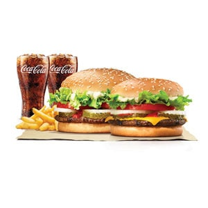 【Aセット】ワッパー&ワッパーチーズジュニア/Bundle Pack:Whopper&Whopper with Cheese Jr.