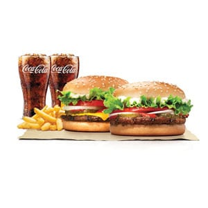 【Bセット】ワッパージュニア&ワッパーチーズジュニア/Bundle Pack:Whopper Jr&Whopper with Cheese Jr.