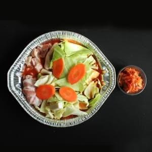夏限定!激辛!たっぷり!野菜の激辛キムチ鍋セット(2-3名様に最適です。)(激辛!韓国カプサイシン付き) たっぷり!野菜鍋(〆雑炊セット)