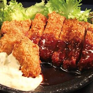 カキフライ(2個)+三元豚カツ弁当