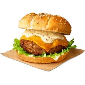 焼きチーズハンバーグサンド