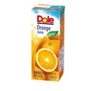 Doleオレンジ100% 200ml(パック)