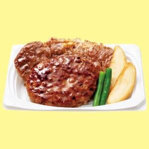 サーロインステーキ&ハンバーグ おかず