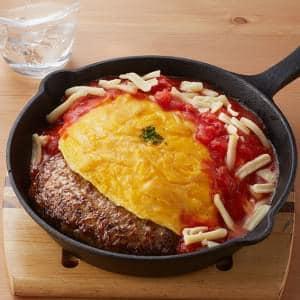 オムハンバーグ チーズイタリアンソース