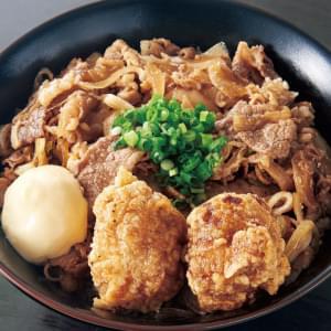 牛すき焼き丼(300)(からあげ2個付)