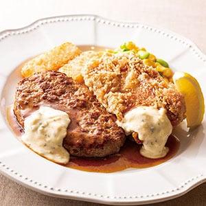 ガスト ハンバーグ&チキン南蛮弁当