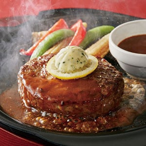 ビーフ100%肉汁ハンバーグステーキ弁当