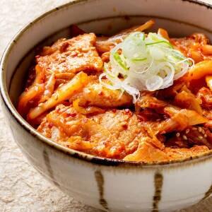 ピリ辛豚キムチ丼