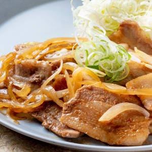 豚バラの生姜焼き定食