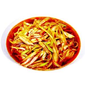 【67】ネギチャーシュー麺(長葱叉烧麺)