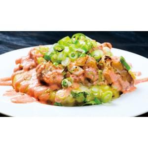 とりねぎ明太焼き Chicken leek with mentaiko sauce