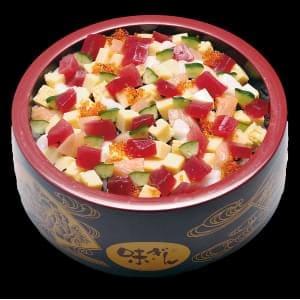 あられ丼 Cut into pieces sashimi bowl  【214】 1人前