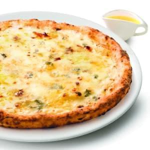 4種のチーズのピッツァ ーイタリア産BIOのハチミツ付ー Mサイズ