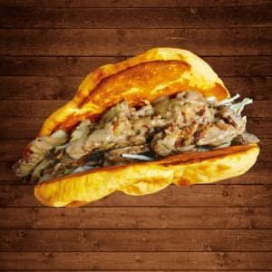 インド定食 ターリー屋 チキンケバブチーズナンサンド CHEESE-KEBAB-NAAN-SAND