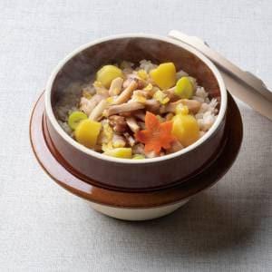 松茸と栗の釜飯