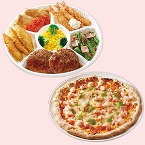 ジョナサン おかずプレート&シーフードミックスピザ