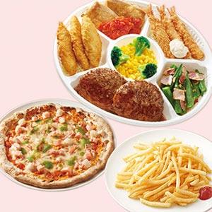 ジョナサン おかずプレート&シーフードミックスピザ&山盛りポテト